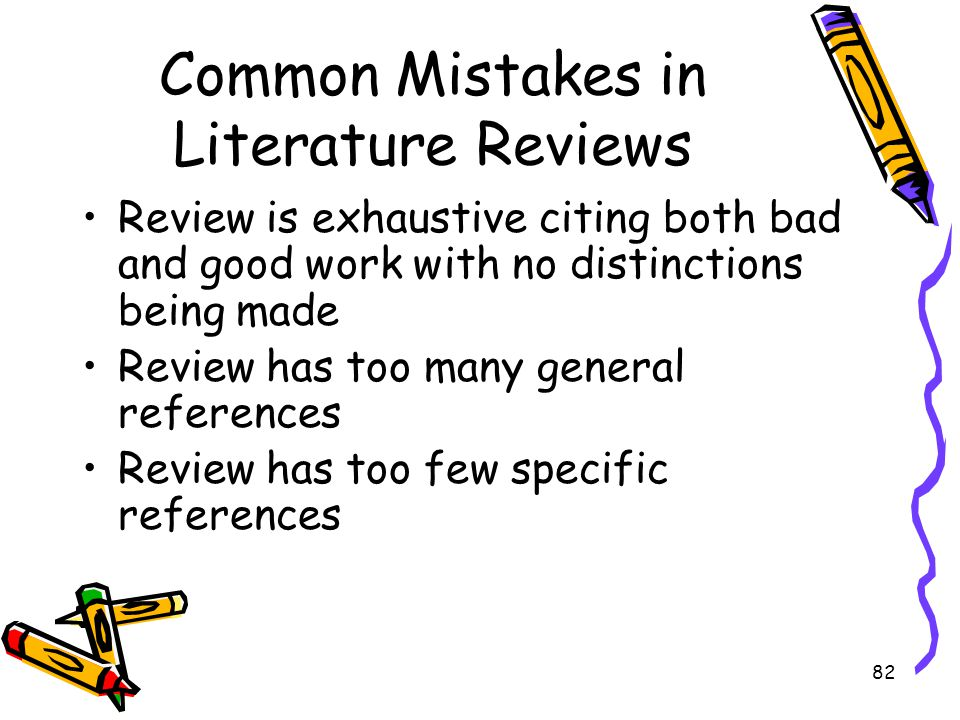 Common Mistakes in Literature Reviews