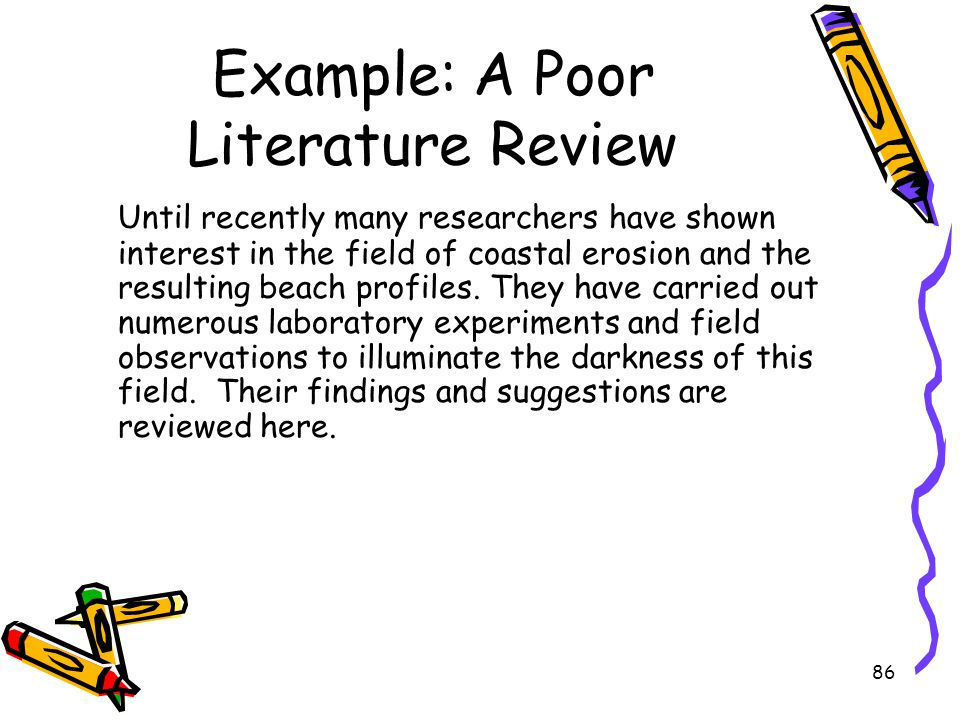 Example: A Poor Literature Review