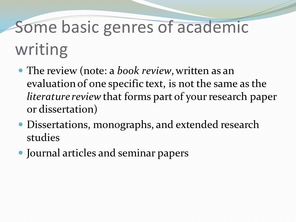 research paper review of literature