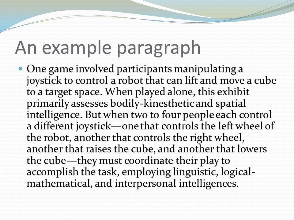 An example paragraph