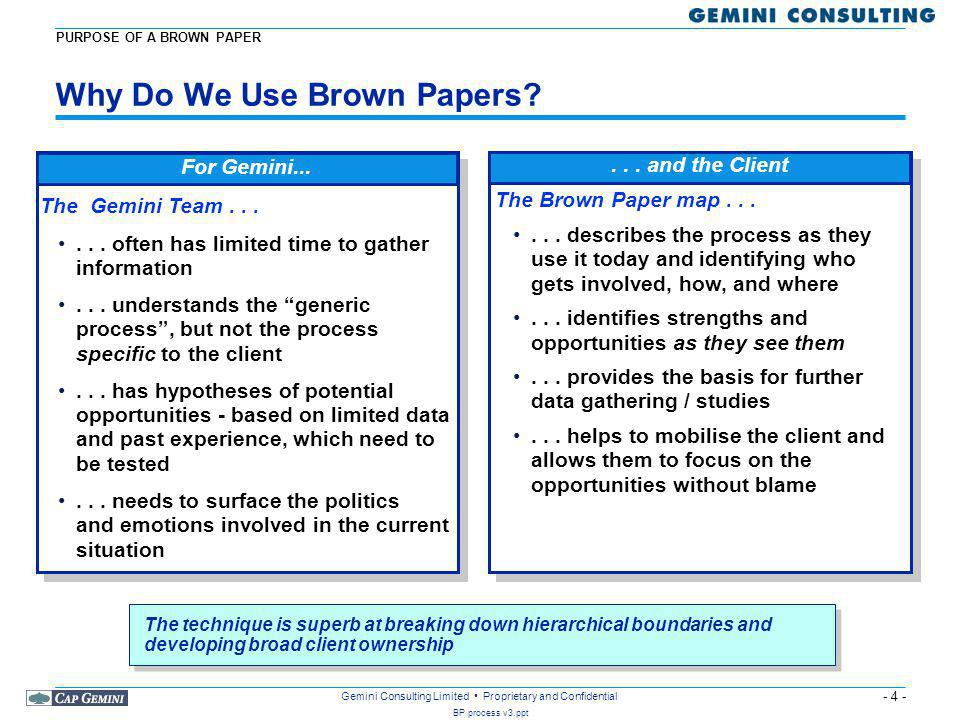 Why Do We Use Brown Papers