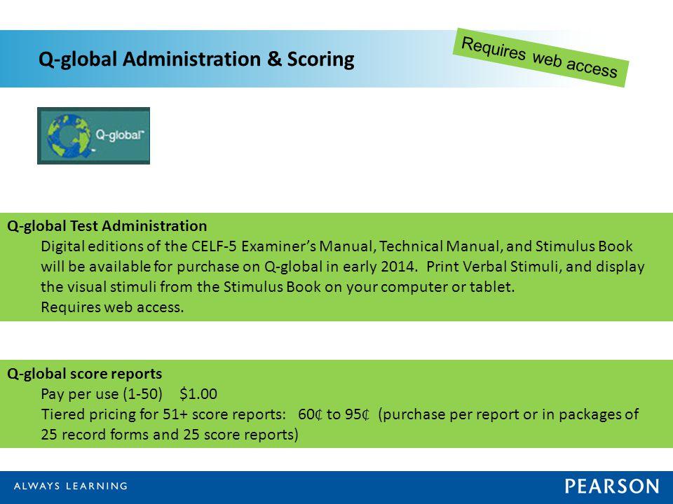 Q-global Administration & Scoring