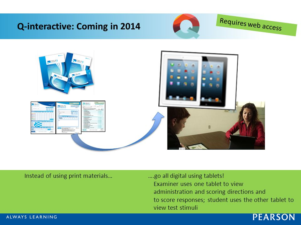 Q-interactive: Coming in 2014
