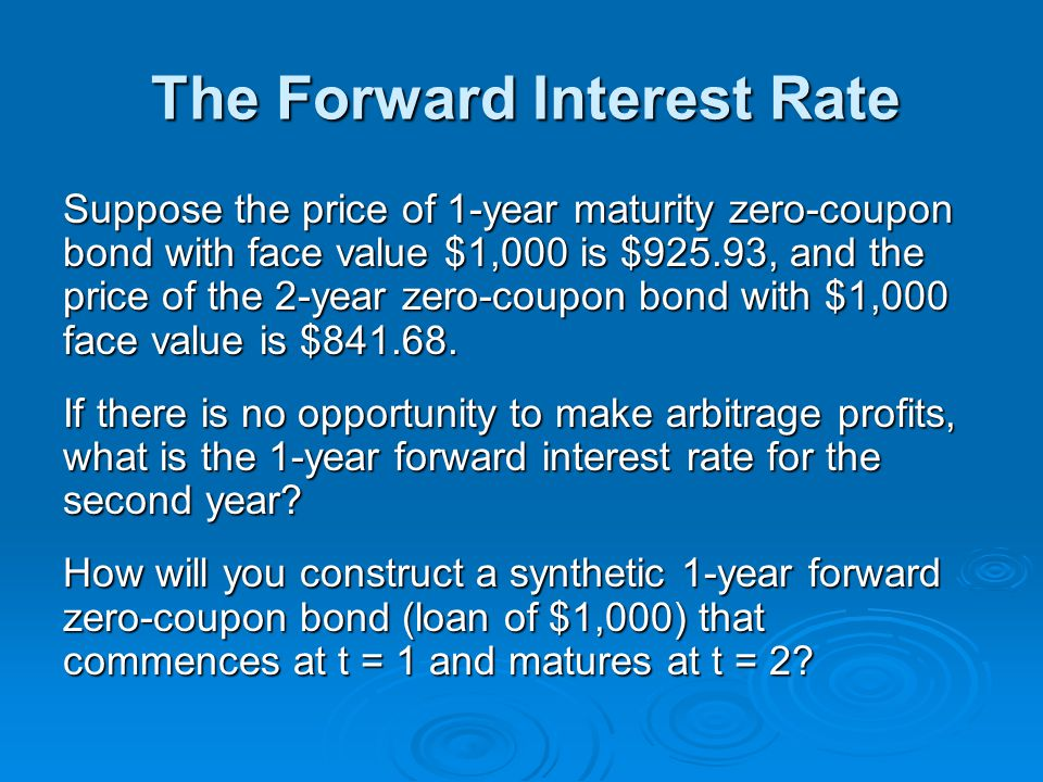 The Forward Interest Rate