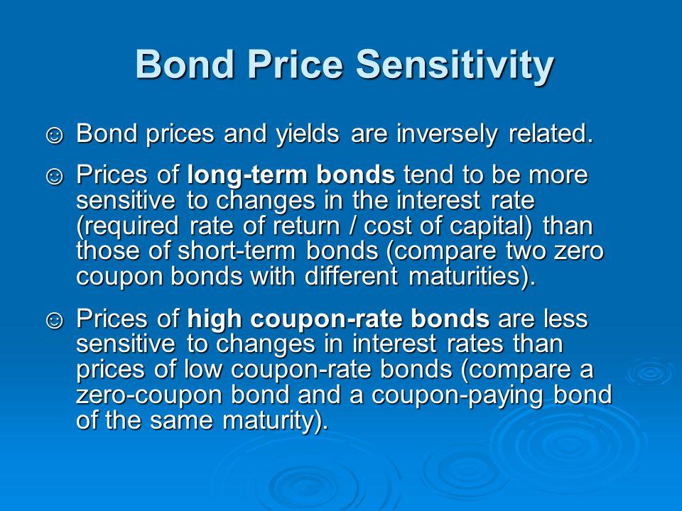 Bond Price Sensitivity