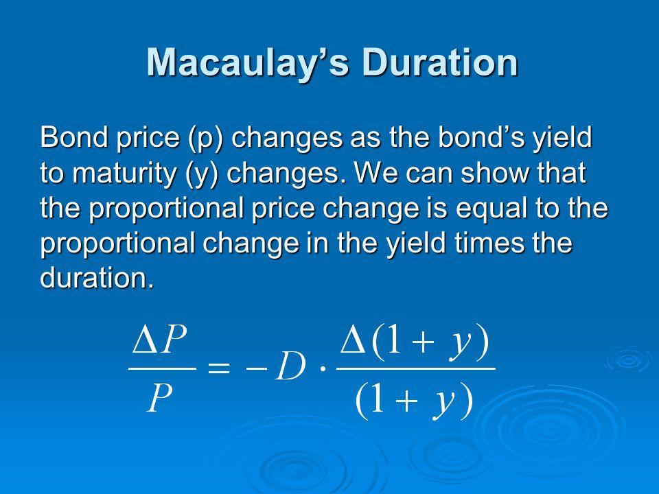 Macaulay's Duration