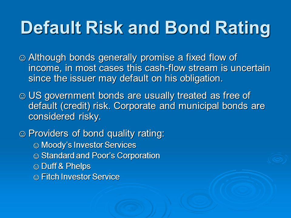 Default Risk and Bond Rating
