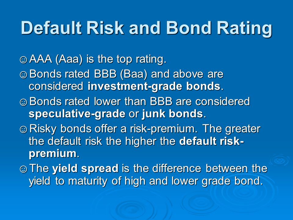 Default Risk and Bond Rating