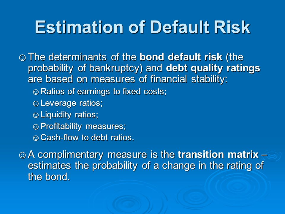 Estimation of Default Risk