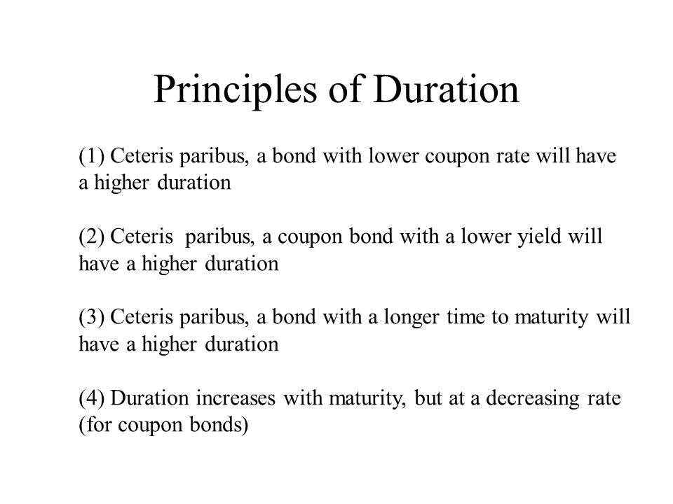Principles of Duration