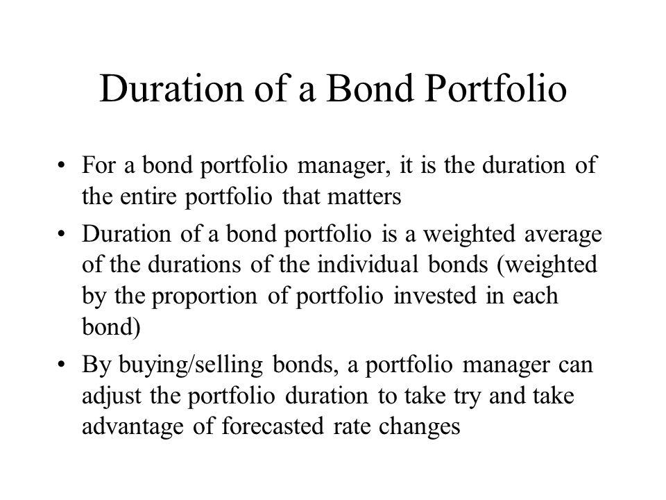Duration of a Bond Portfolio