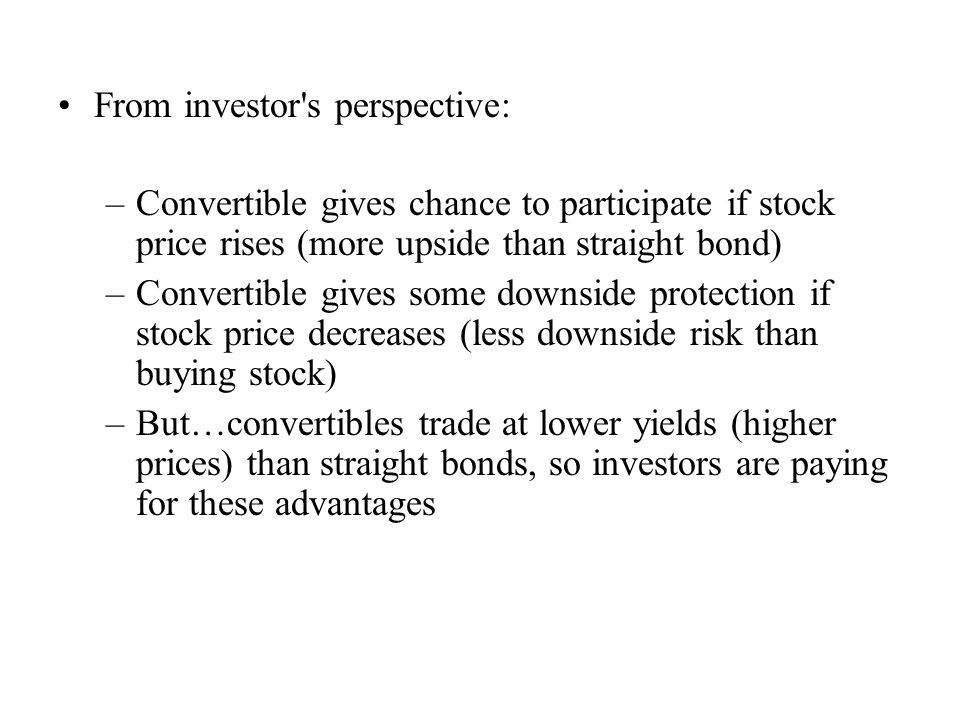 From investor s perspective: