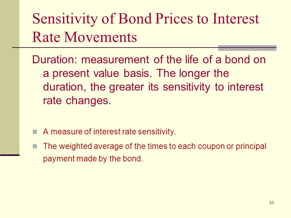 Sensitivity of Bond Prices to Interest Rate Movements