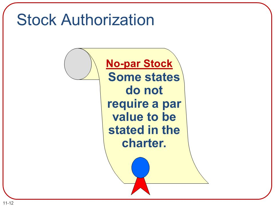 Some states do not require a par value to be stated in the charter.