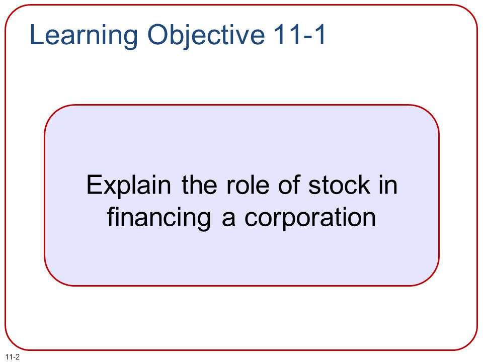 Explain the role of stock in financing a corporation