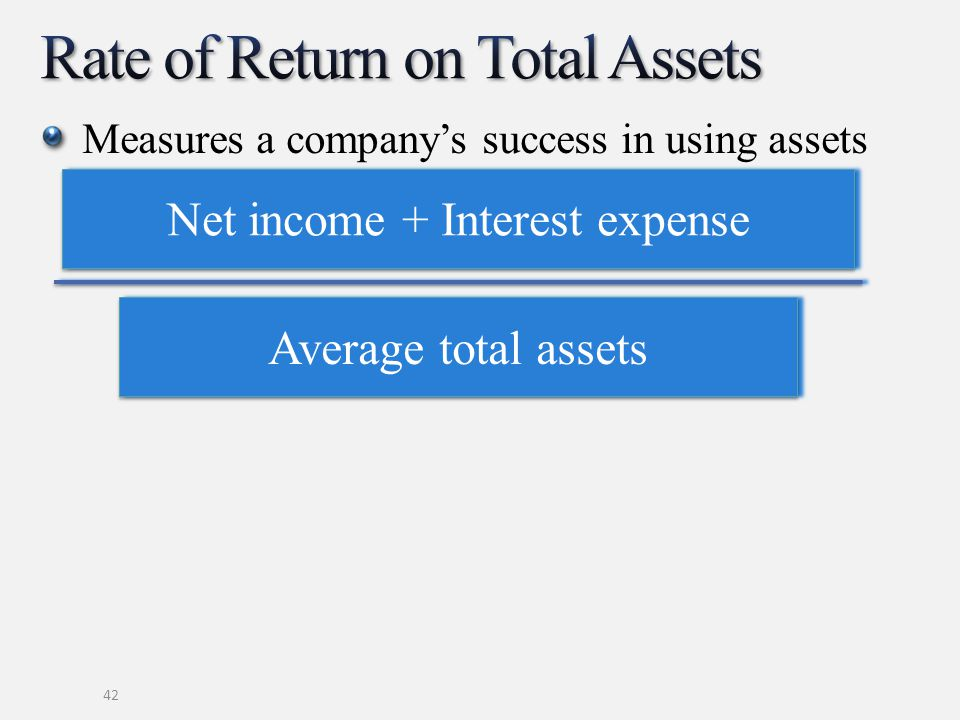 Rate of Return on Total Assets