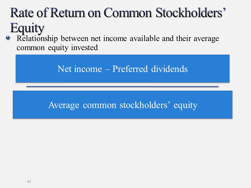 Rate of Return on Common Stockholders' Equity