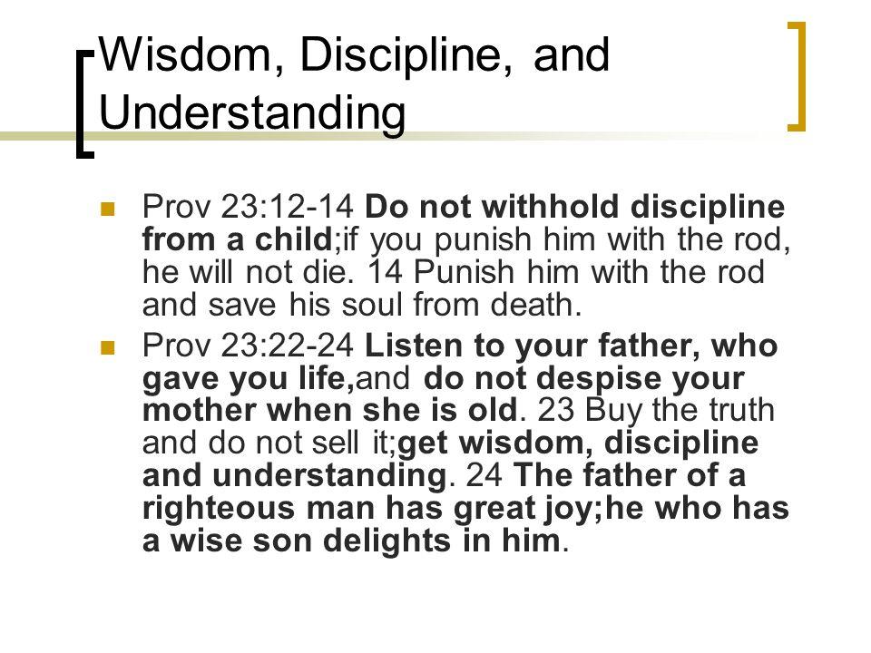 Wisdom, Discipline, and Understanding