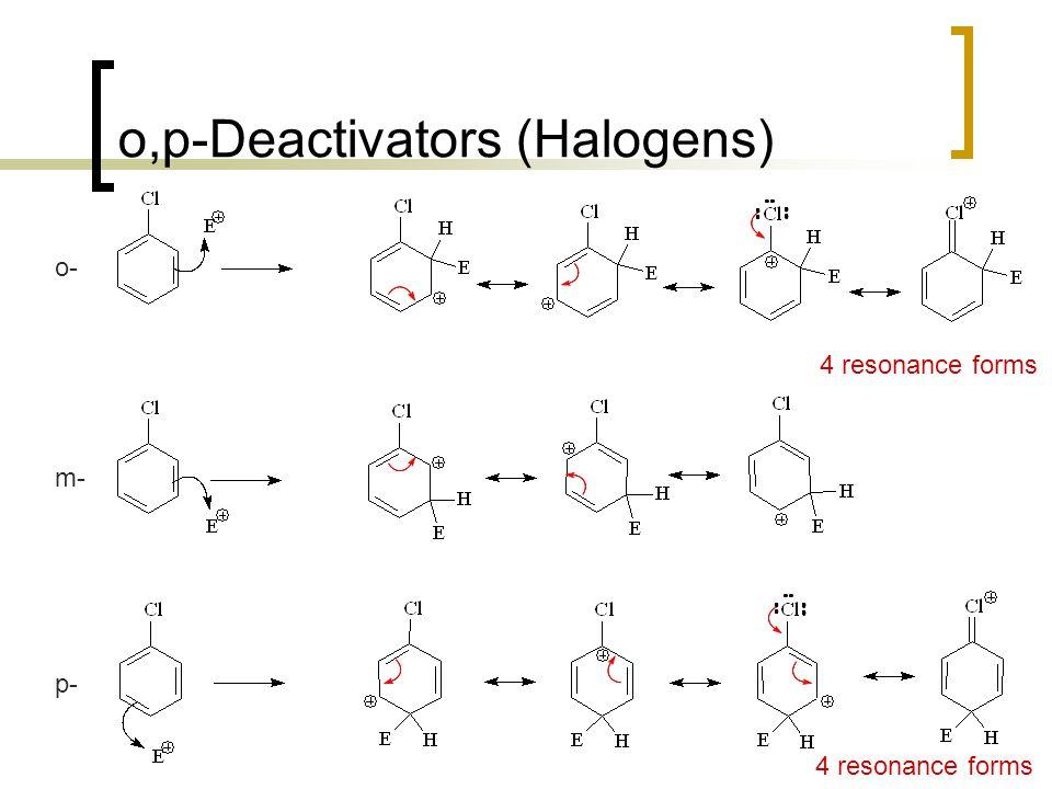 o,p-Deactivators (Halogens)
