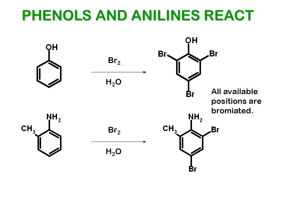 PHENOLS AND ANILINES REACT
