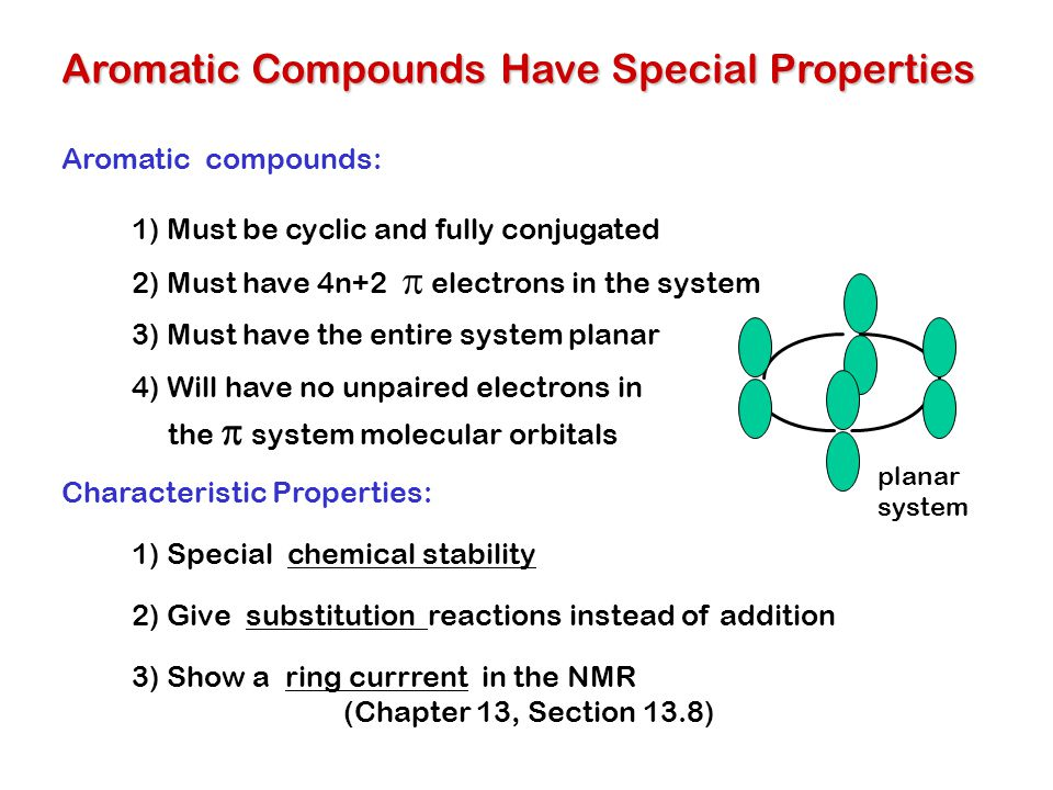 Aromatic Compounds Have Special Properties