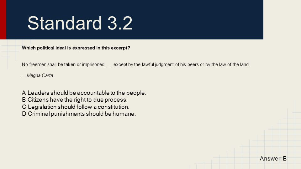 Standard 3.2 A Leaders should be accountable to the people.