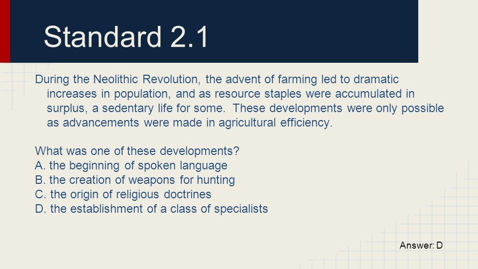 Standard 2.1