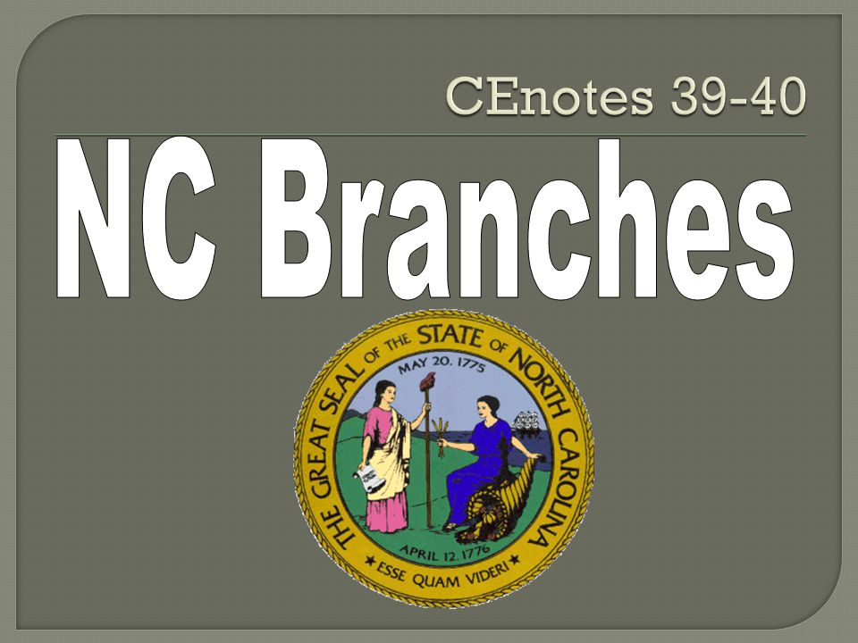 CEnotes 39-40 NC Branches