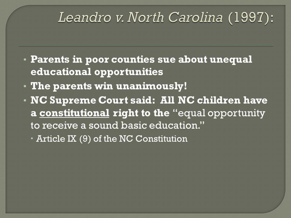 Leandro v. North Carolina (1997):