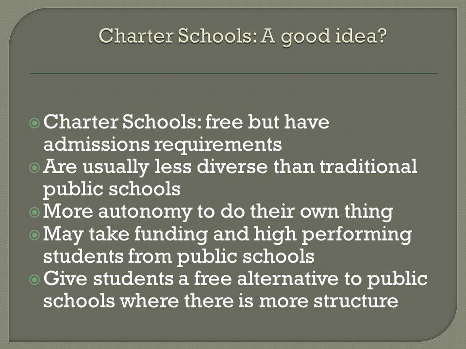 Charter Schools: A good idea