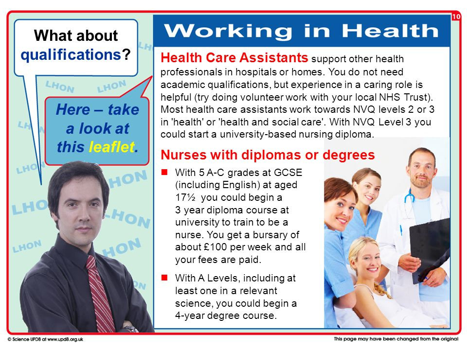 What about qualifications Here – take a look at this leaflet.