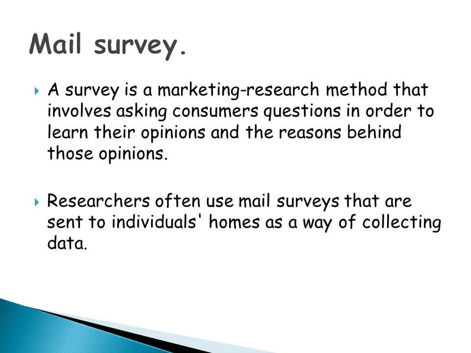 Mail survey.