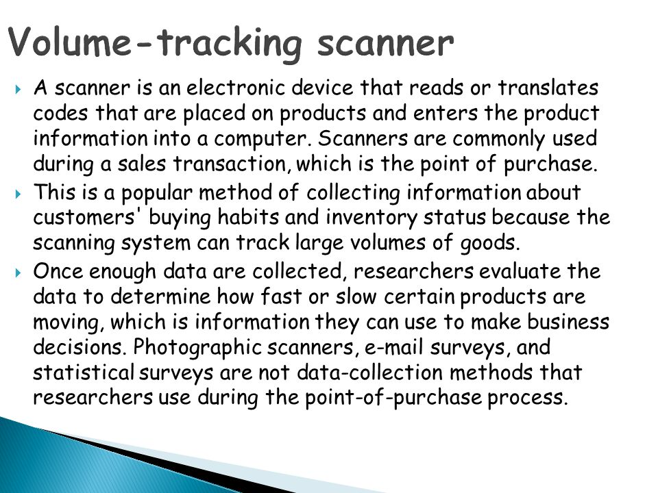 Volume-tracking scanner
