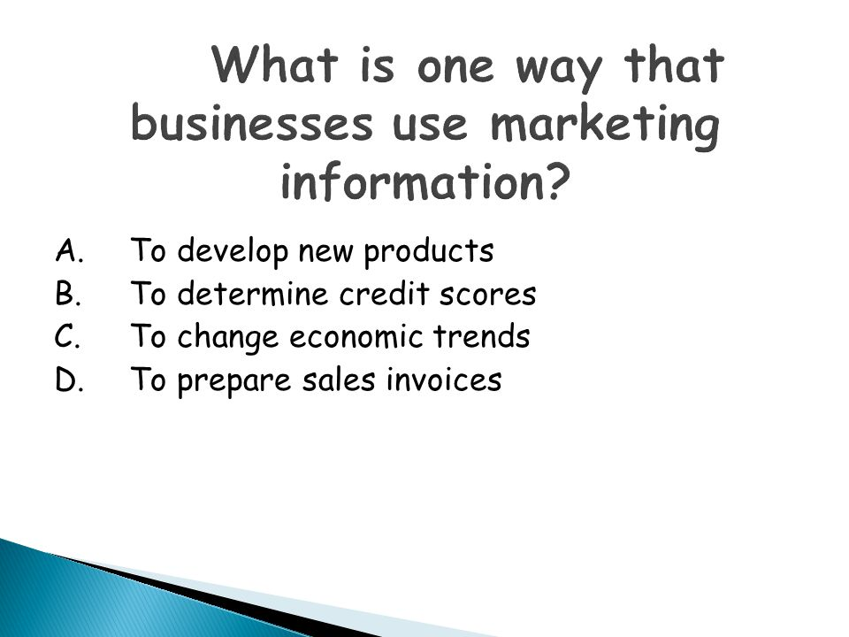 What is one way that businesses use marketing information