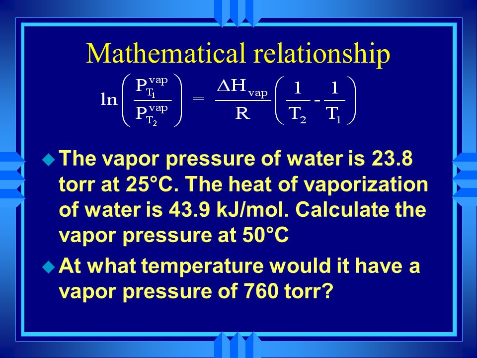 Mathematical relationship