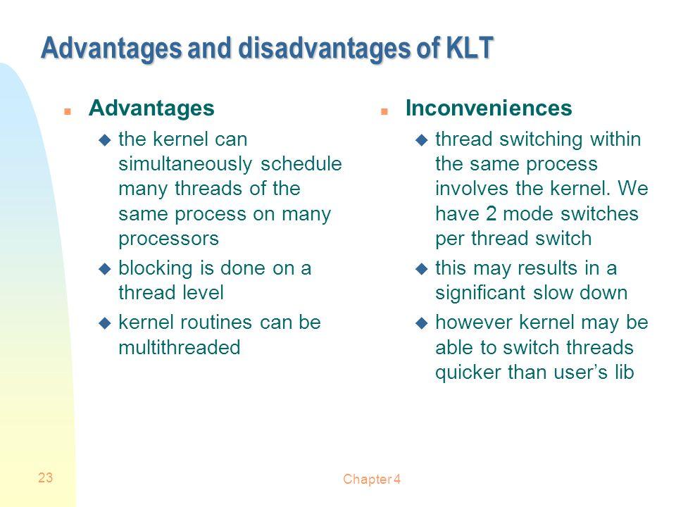 Advantages and disadvantages of KLT