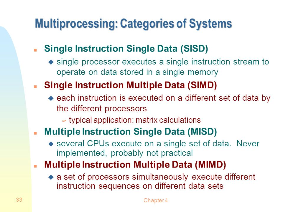Multiprocessing: Categories of Systems