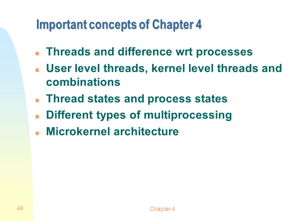 Important concepts of Chapter 4