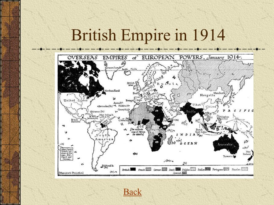British Empire in 1914 Back