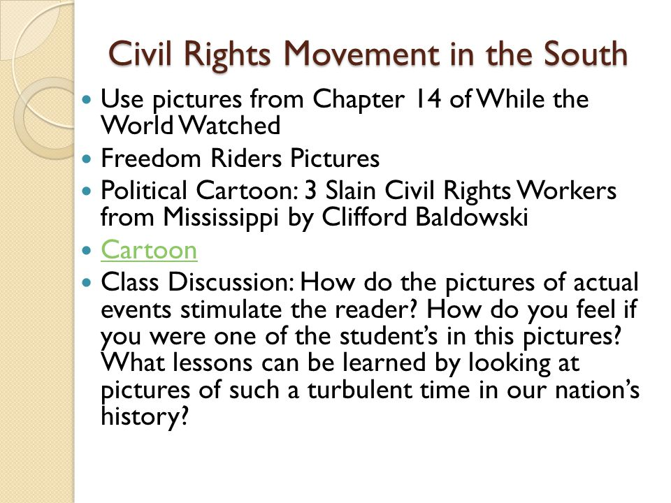 Civil Rights Movement in the South