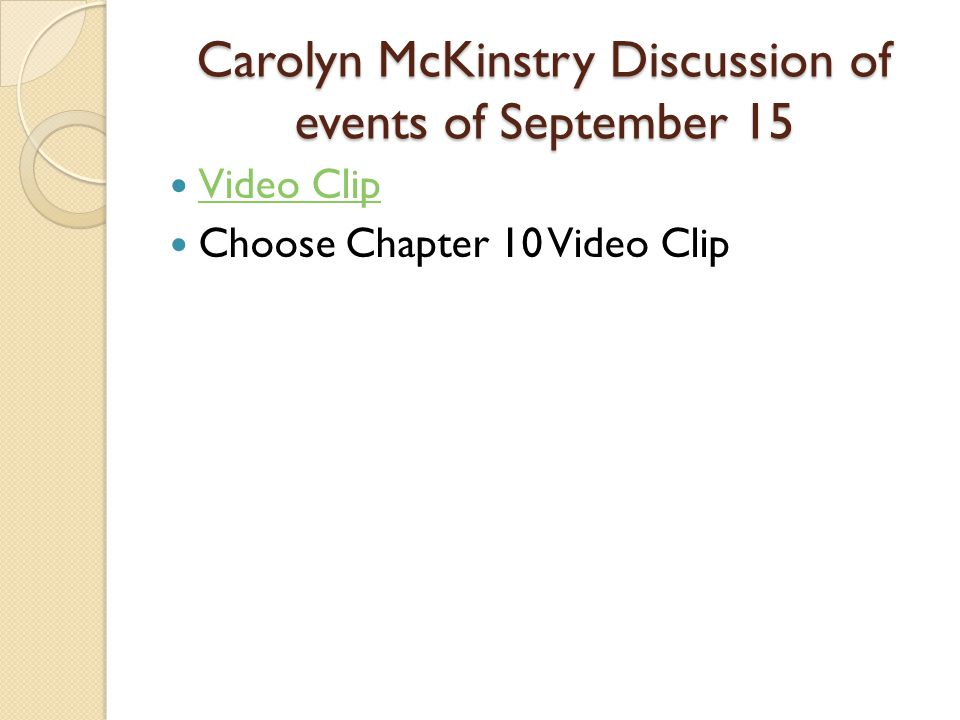 Carolyn McKinstry Discussion of events of September 15