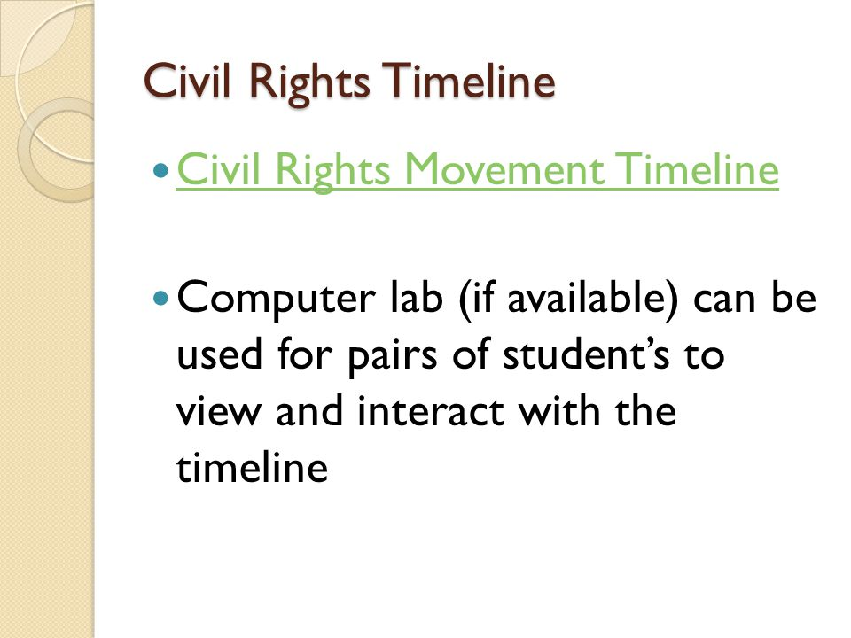 Civil Rights Timeline Civil Rights Movement Timeline