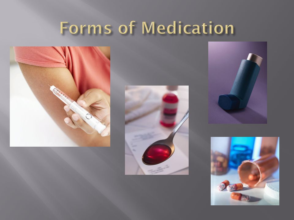 Forms of Medication