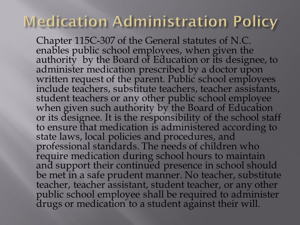 Medication Administration Policy