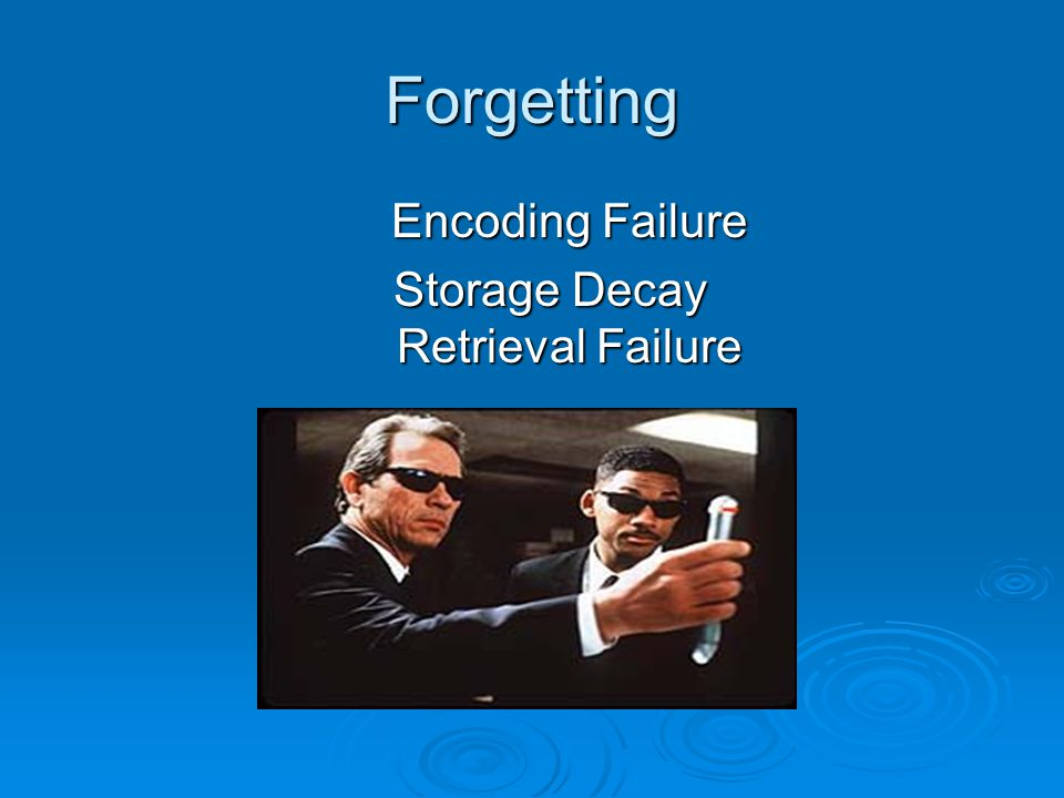 retrieval failure as a method of forgetting Study flashcards on memory: explanations for forgetting - retrieval failure at cramcom quickly memorize the terms, phrases and much more cramcom makes it easy to get the grade you want.