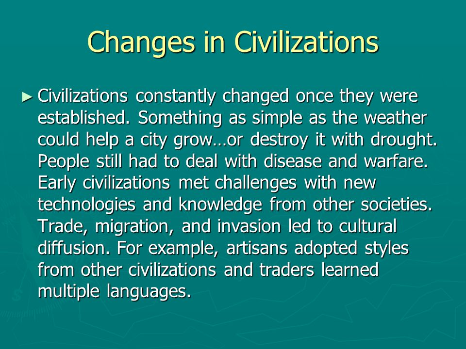 Changes in Civilizations