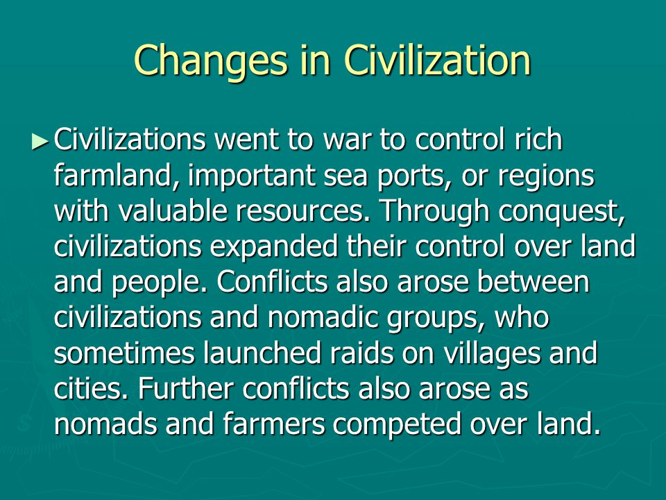 Changes in Civilization