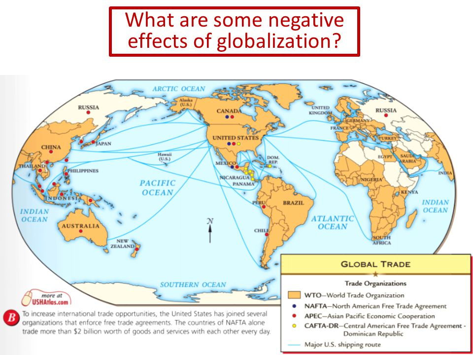 What are some negative effects of globalization