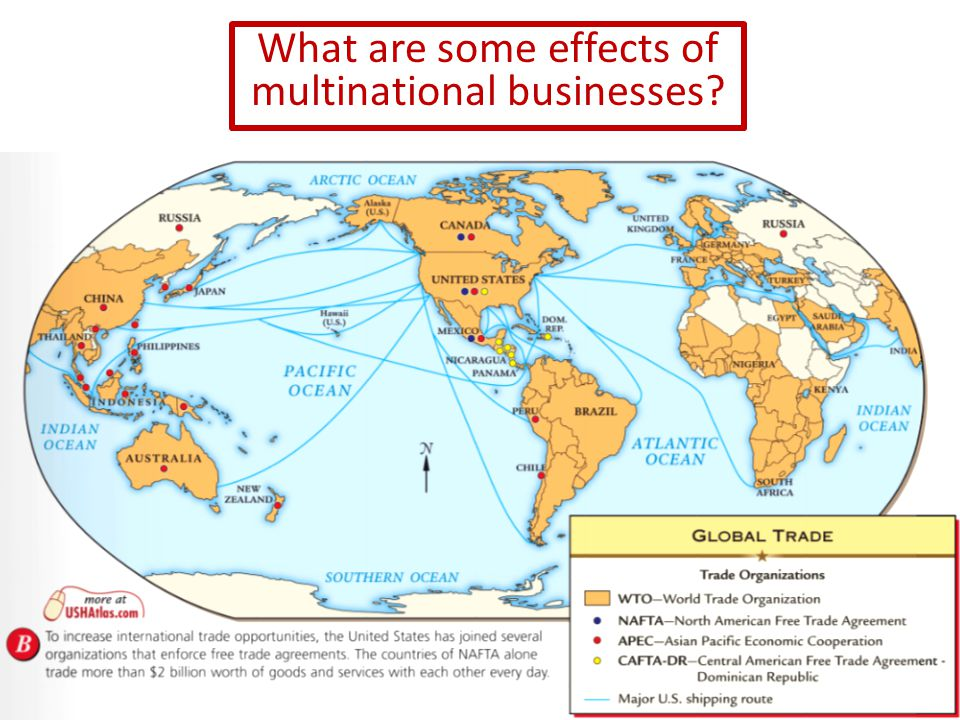 What are some effects of multinational businesses