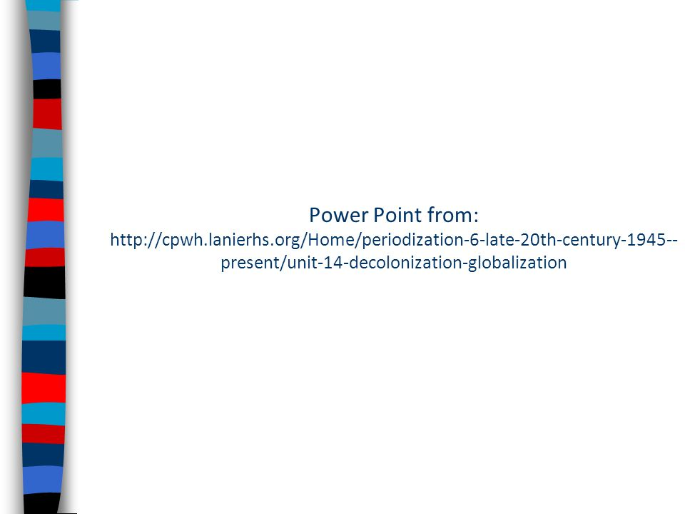 Power Point from: http://cpwh. lanierhs